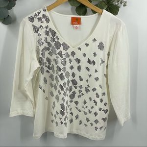 Hearts of Palm | Embellished Sequin Top, M